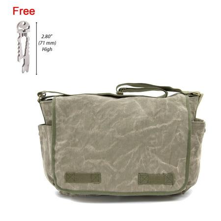 Canvas Messenger Shoulder Bag, with FREE Punisher