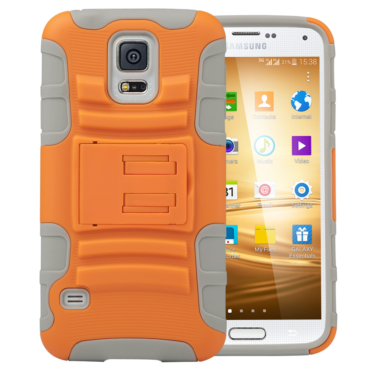 Galaxy S5 Case, ULAK Slim Shockproof Dual Layer Protective Case with Swivel Belt Clip Holster & Built-in Kickstand for Samsung Galaxy S5 2014 Release