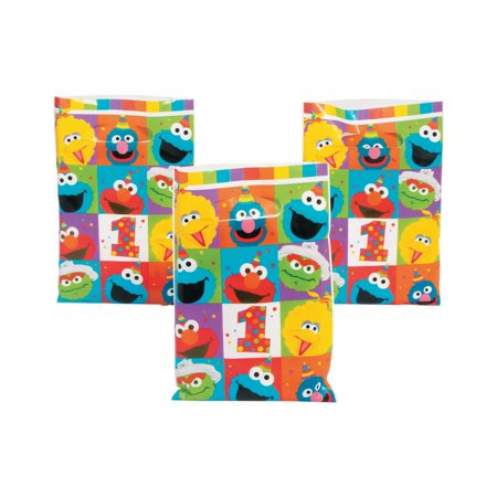 Sesame Street® Elmo Turns One Goody Bags](Sesame Street Party Bags)