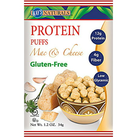 (3 Pack) Kay's Naturals Protein Puffs - Mac and Cheese - 1.2