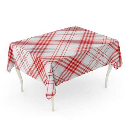 SIDONKU Gingham Plaid Printing Pattern Check in Red and ...