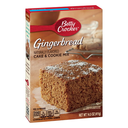 (2 Pack) Betty Crocker Gingerbread Cake and Cookie Mix, 14.5 oz - Halloween Cookie Cakes