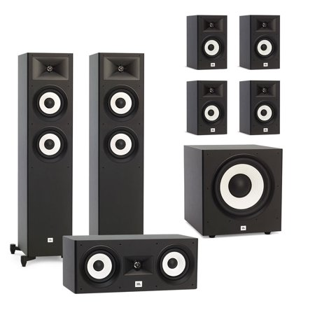 JBL Stage A180 7.1 Channel Home Theater Speaker Package with Stage A100P 10