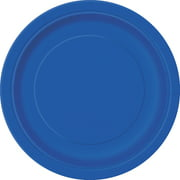 Royal Blue Paper Dessert Plates, 7in, 50ct