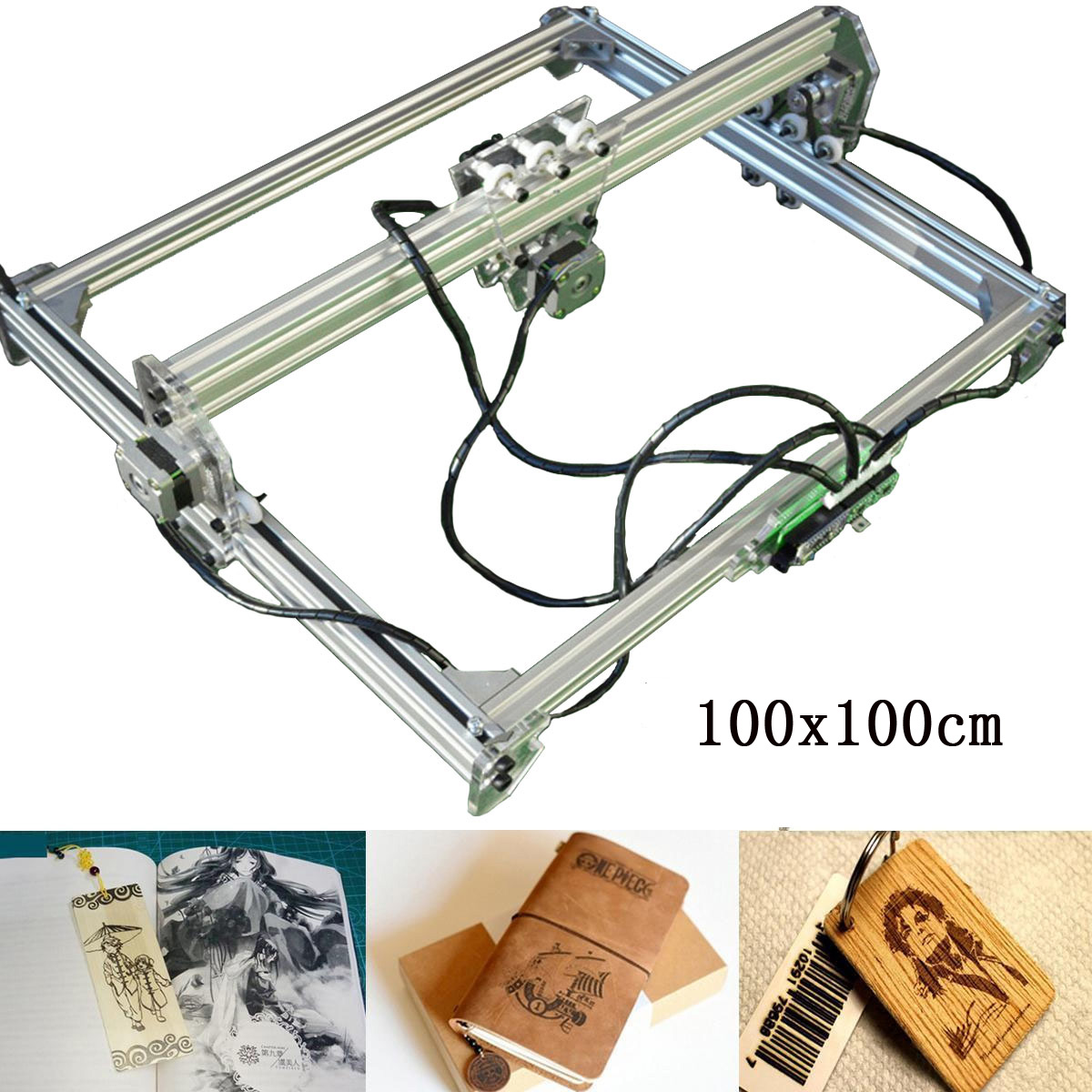 2500mw 100*100cm DIY Desktop Laser Engraving Cutter Engraver Carving Machine Marking Logo Printer