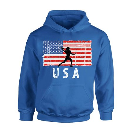 Awkward Styles American Football USA Hoodie Stripes and Stars Retro USA Flag Hooded Sweatshirt for Men USA Pride Retro USA Flag Hooded Sweatshirt for Women Made in the