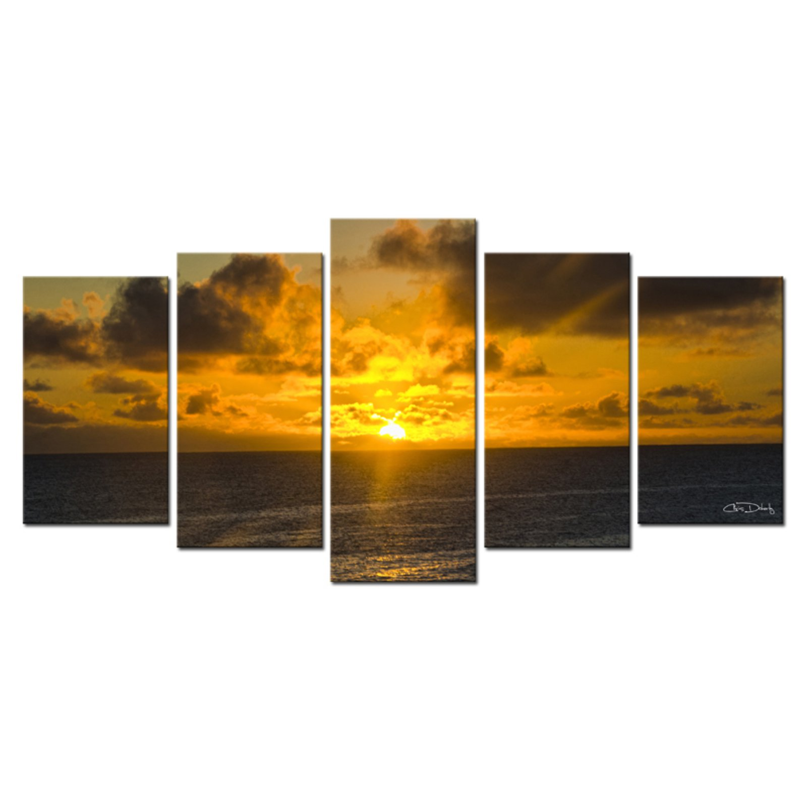 Ready2HangArt Niue Sunset Canvas Wall Art - 5 pc. Set