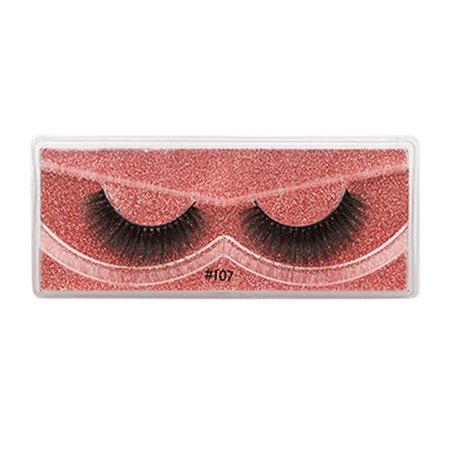 Chinatera 1 Pair Fake Eyelash Simulation Mink 3D Makeup Extension False Lashes (107)