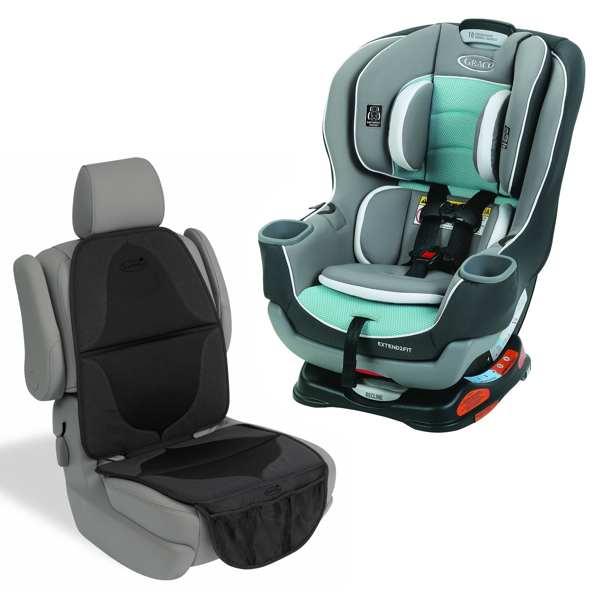 Graco Extend2Fit Convertible Car Seat with Seat Mat, Spire