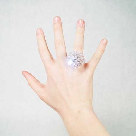 Clear Flashing Jelly Rings for $<!---->