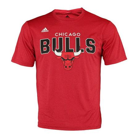 (Adidas NBA Men's Chicago Bulls Straight To The Rush Tee Shirt)