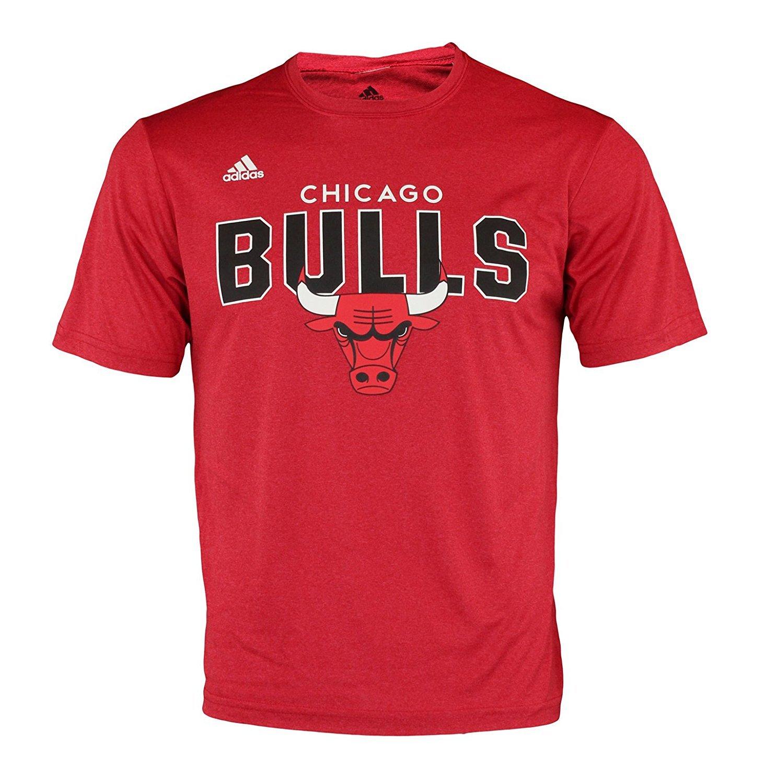 Adidas NBA Men's Chicago Bulls Straight To The Rush Tee Shirt