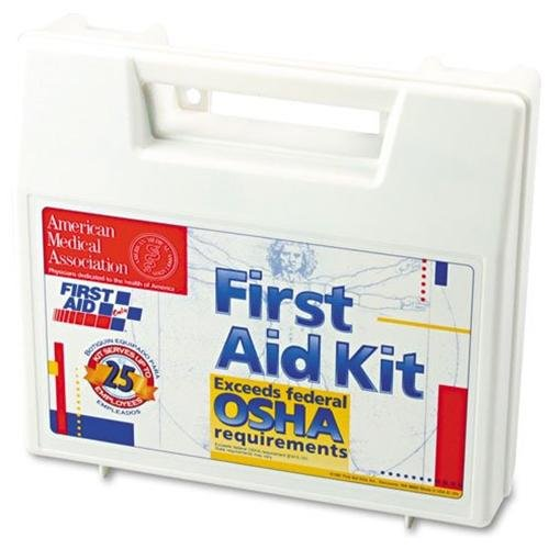 FIRST AID ONLY, INC. 223U Bulk First Aid Kit For 25 People, 106 Pieces, Osha Compliant, Plastic Case