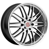 Victor Equipment Lemans 18x9.5 5x130 +49mm Hyper Silver Wheel Rim