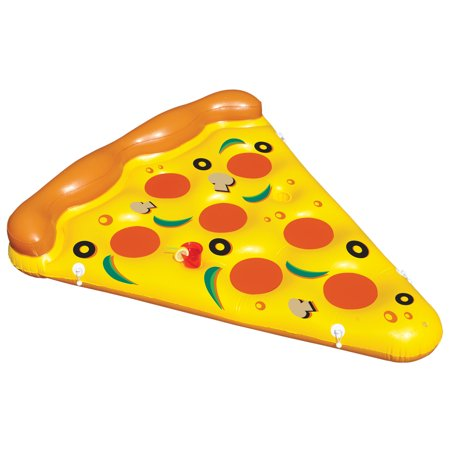 Swimline Giant Inflatable Pizza Slice Float Raft For The Lake/Beach/Pool | 90645 (Giant Inflatable Raft)