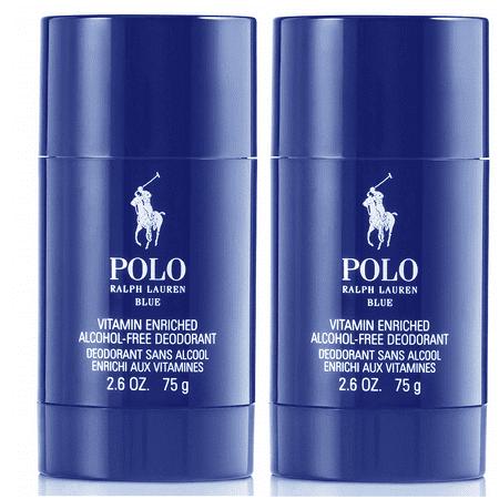 2 Pack - Polo Blue Ralph Lauren Deodorant Stick 2.6 Oz For Men