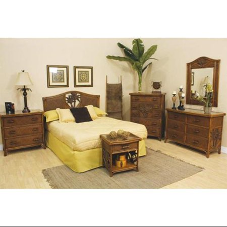 cancun palm 4 piece bedroom set finish natural size twin