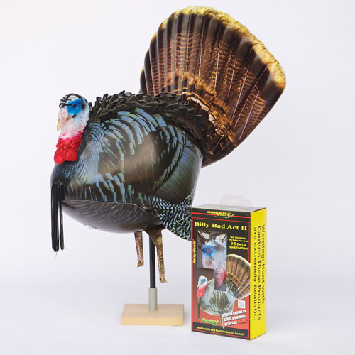 Cherokee Sports Fusion Billy Bad Act  Hairy-Head Inflatable Strutting Tom Decoy, 885