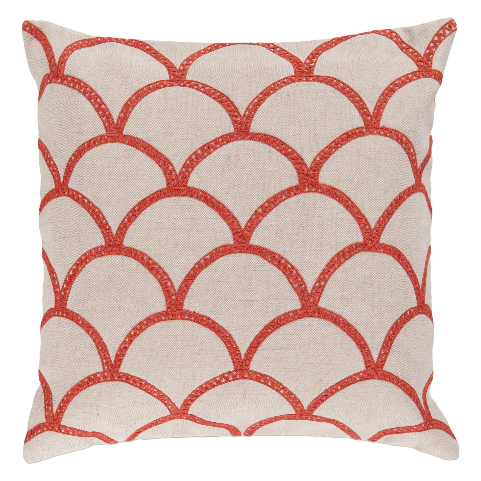 Surya Overlapping Oval Decorative Throw Pillow