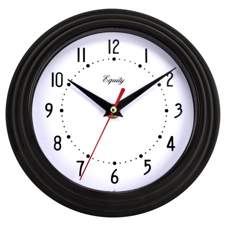 La Crosse Technology Equity 8  Black Wall Clock