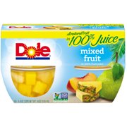 Dole Mixed Fruit in 100% Fruit Juice, 4 oz Cup, 4 Count Box