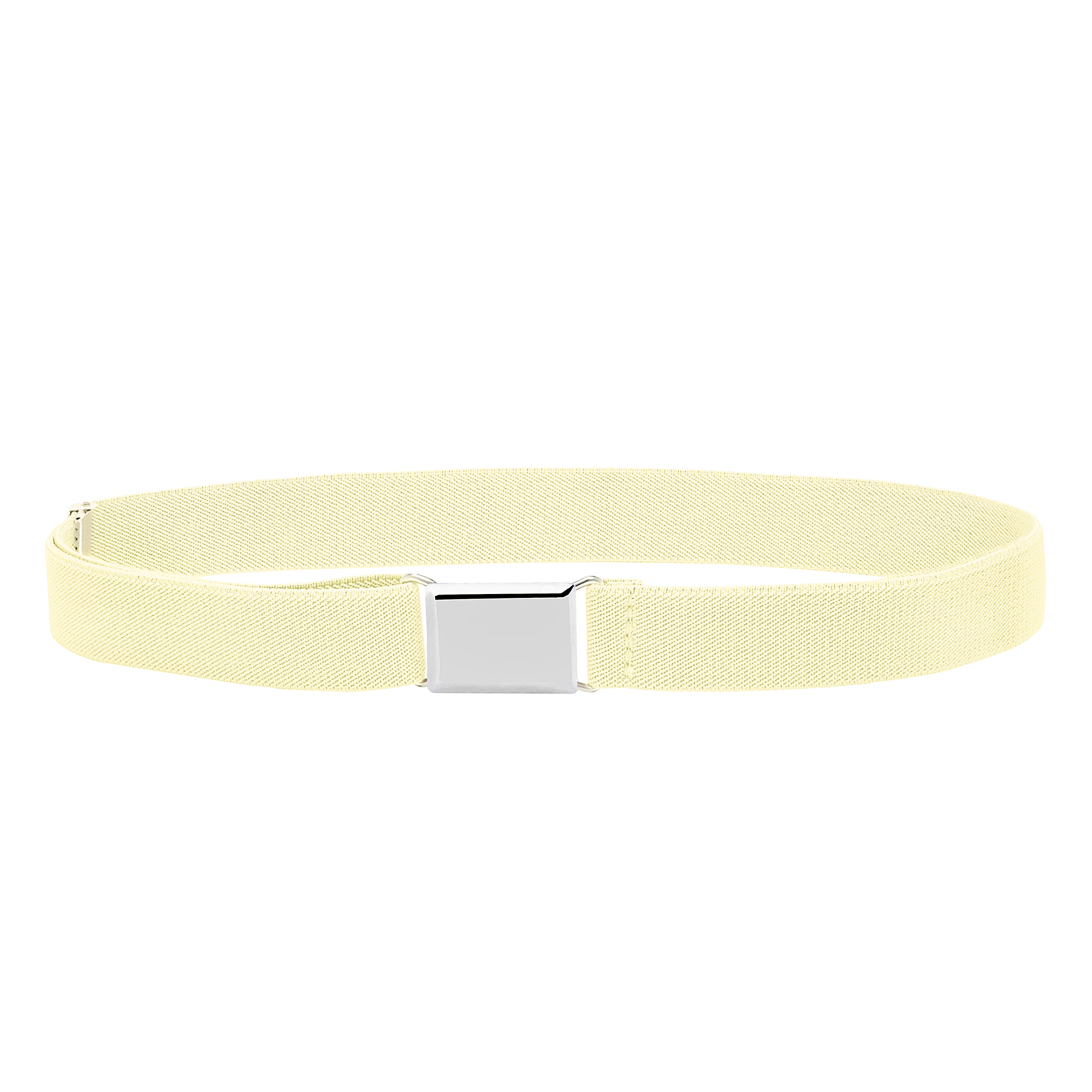 Kids And Baby Adjustable And Elastic Dress Stretch Belt With Silver Buckle