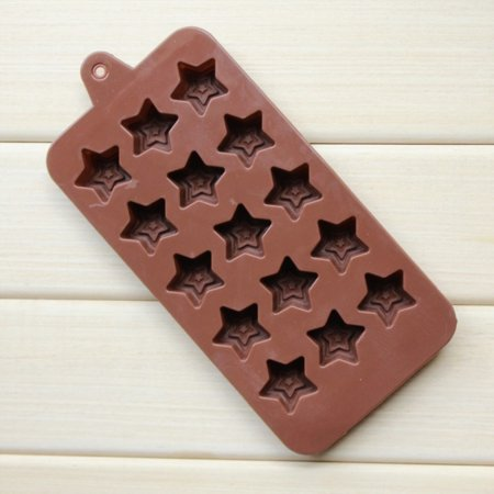 Silicone Mold for Chocolate Ice Cube Star Shaped 15 Cavity](Halloween Punch Hand Shaped Ice)