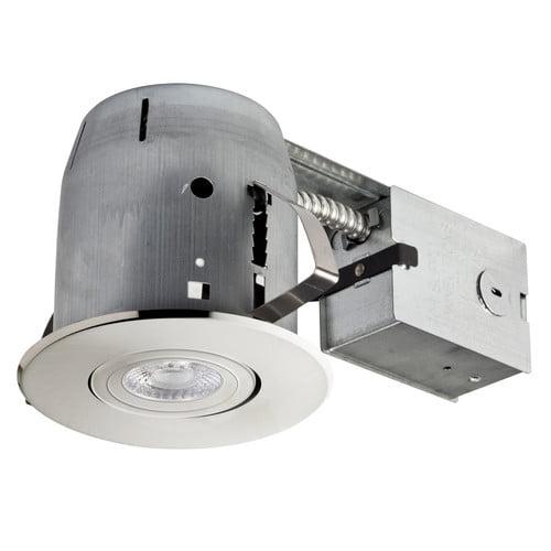 Globe Electric Company LED Swivel Spotlight 4'' Recessed Kit