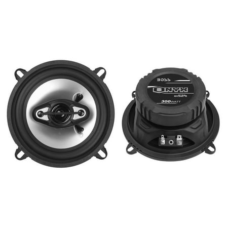 "2) NEW BOSS NX524 5.25"" 300W 4-Way Car Audio Coaxial Speakers Stereo Black 4 Ohm"