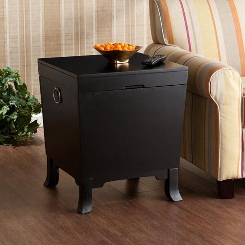 Claxton Trunk Storage End Table Black Walmartcom