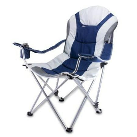 Stupendous Picnic Time Portable Reclining Camp Chair Navy Navy Creativecarmelina Interior Chair Design Creativecarmelinacom