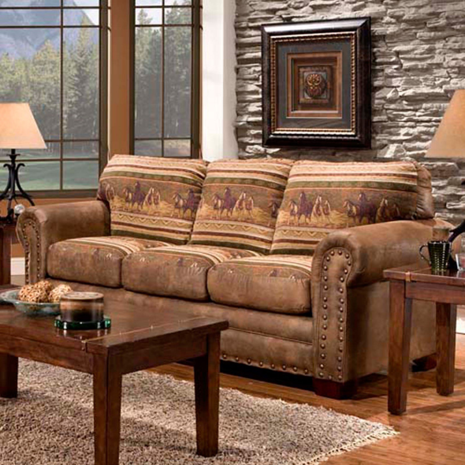 American Furuniture Classics Wild Horses Sleeper Sofa by American Furniture Classics