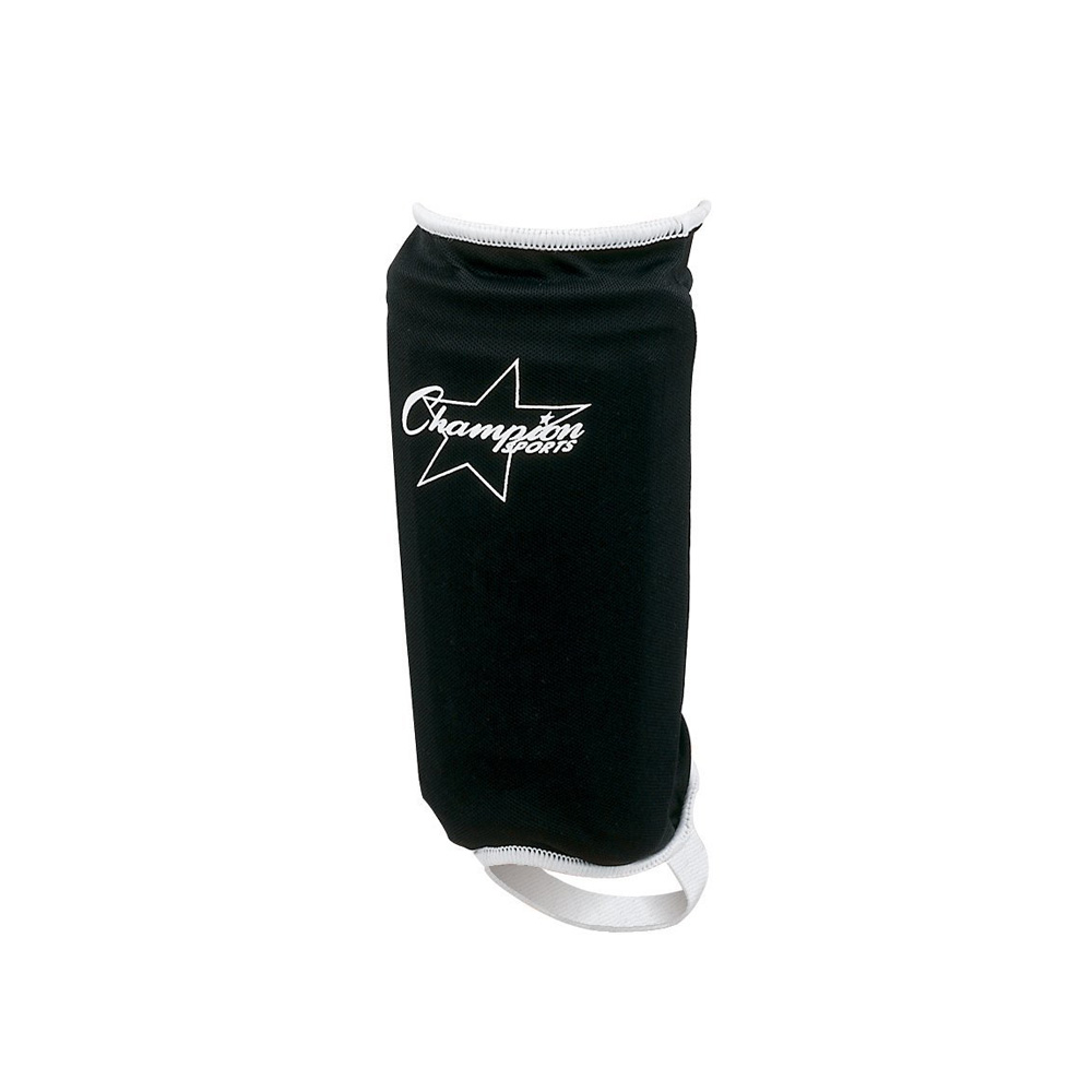 Lightweight shin guard. Soft Lycra? cover. Hard plastic shell protection. Cushioned E.V.A. foam backing. Molded foam in... by Champion Sports