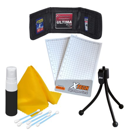 Xtech 7Pc Digital Camera Starter Accessory Kit  Includes  Mini Tabletop Tripods  Memory Card Wallet  Lens Cleaning Fluid  Cleaning Cloth  Universal Screen Protectors With Squeegee Card    5 Cotton Swa