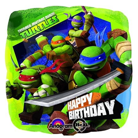 Teenage Mutant Ninja Turtle Birthday Mylar Balloon - 17