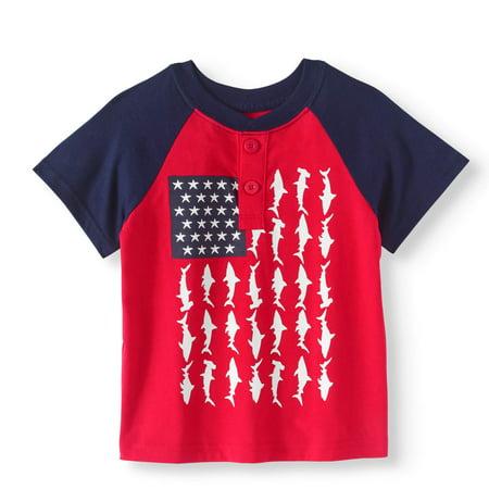 Toddler Boy Short Sleeve Graphic Henley T-Shirt
