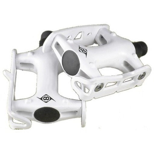 TRACK BIKE FIXED GEAR ROAD BIKE PEDALS WHITE FREE SHIP