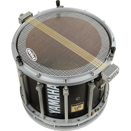 Hybrid Marching Snare Side Head Clear #602 Bistro Black ()
