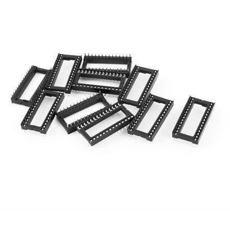 10 Pcs 2.54mm 2 Row 28 Pin Solder Wide DIP IC Chip Socket Adaptor