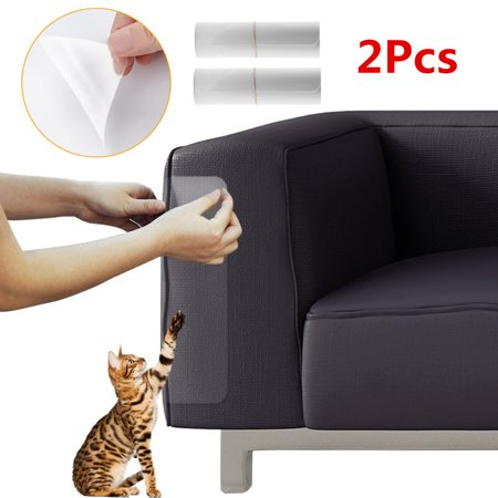 2Pcs PVC Cat Scratching Guard Sofa Furniture Protector Non-toxic Cover Self Adhesive Non Toxic Furniture