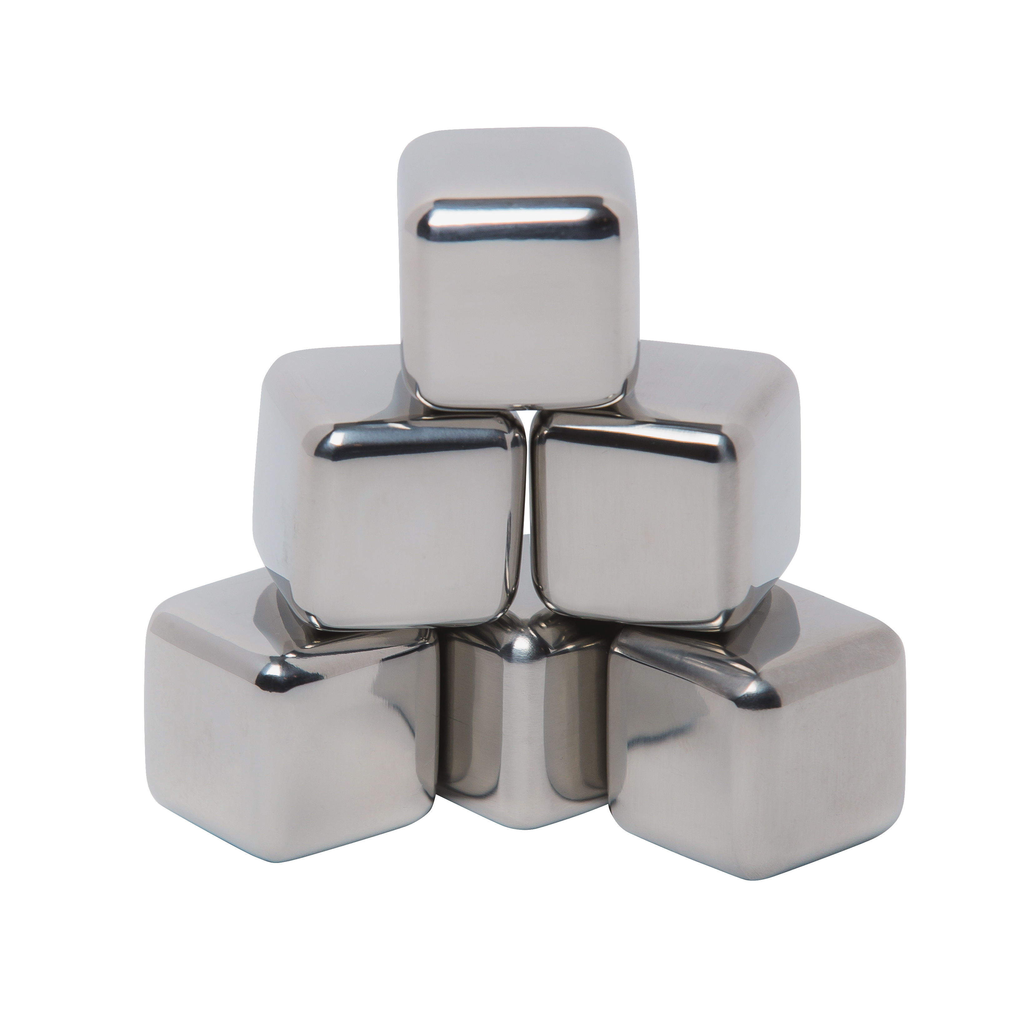 Mammoth Stainless Steel Ice Cubes Six Pack - Walmart.com