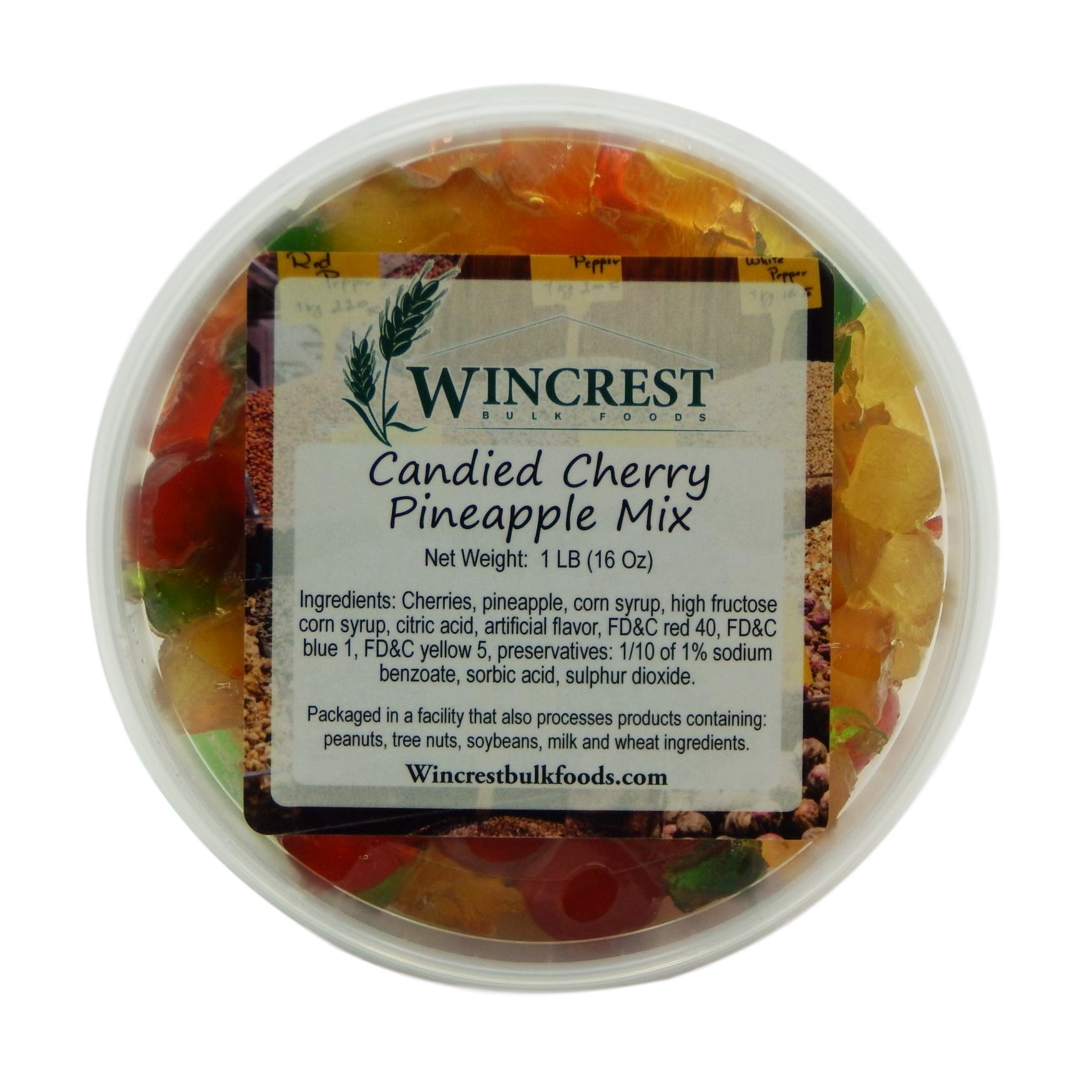 Candied Cherry Pineapple Fruit Mix ~ 1 Pound Tub