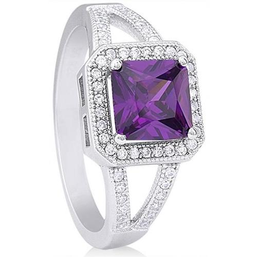 Doma Jewellery SSRZ461PR7 Sterling Silver Ring With CZ, Size 7