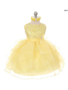 410d5b14c4 Product Image Stylesilove Baby Girls Organza Rhinestuds Bow Sash Flower  Girl Dress