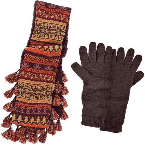 MUK LUKS Vintage Scarf with Texting Glove