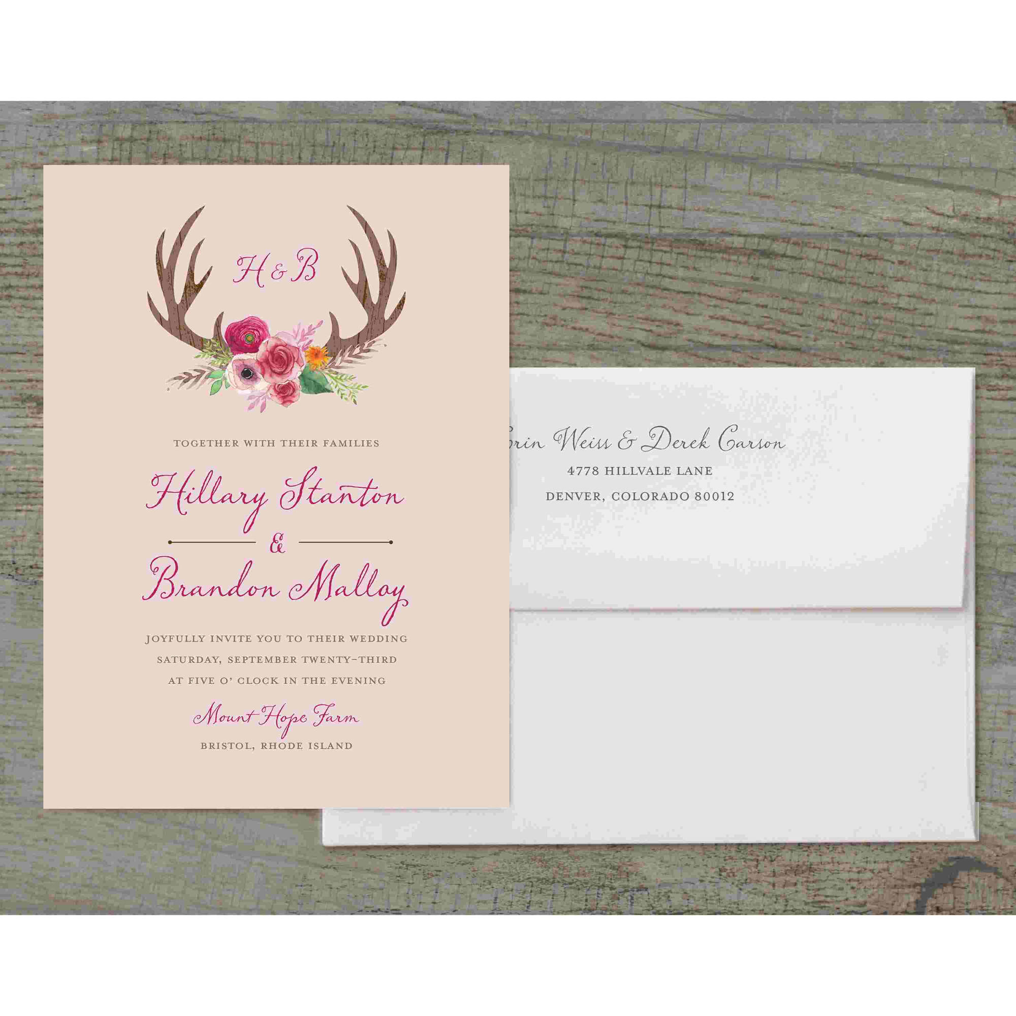 Woodland Fantasy Deluxe Wedding Invitation
