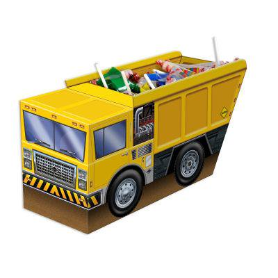 Pack of 12 Yellow and Brown 3-D Dump Truck Centerpiece 18.75