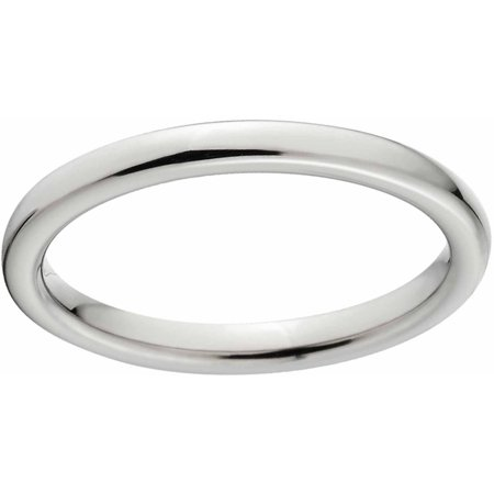 - Polished 3mm Titanium Wedding Band with Comfort Fit Design