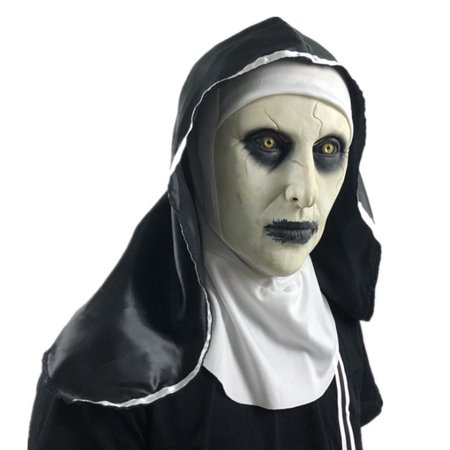 Horror Props Store (Halloween Scary Cosplay Costume Prop Party Nun Horror Mask Hood Helmet)