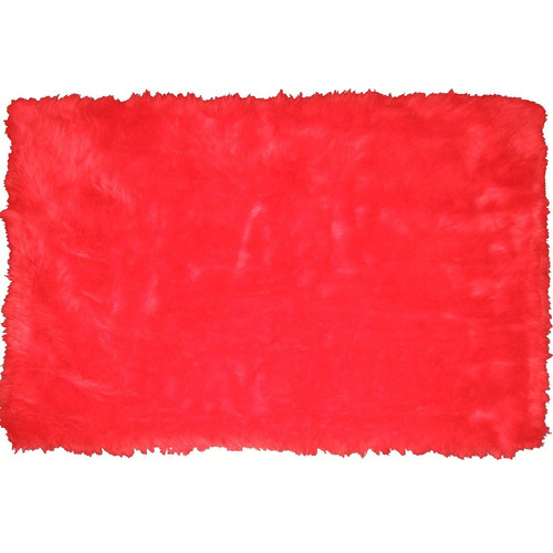L A Rugs Flokati Red Area Rug Walmart Com